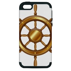 Boat Wheel Transparent Clip Art Apple Iphone 5 Hardshell Case (pc+silicone)
