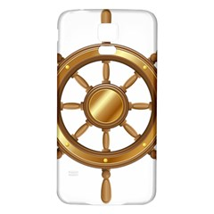 Boat Wheel Transparent Clip Art Samsung Galaxy S5 Back Case (white)
