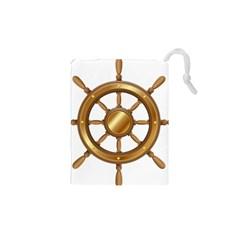 Boat Wheel Transparent Clip Art Drawstring Pouches (xs)