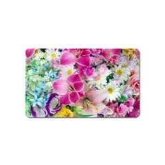 Colorful Flowers Patterns Magnet (name Card)