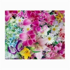 Colorful Flowers Patterns Small Glasses Cloth