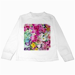 Colorful Flowers Patterns Kids Long Sleeve T Shirts