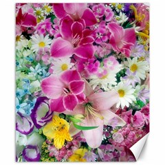 Colorful Flowers Patterns Canvas 8  X 10