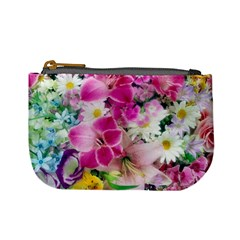 Colorful Flowers Patterns Mini Coin Purses