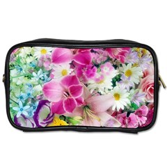 Colorful Flowers Patterns Toiletries Bags