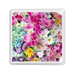 Colorful Flowers Patterns Memory Card Reader (square)