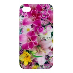 Colorful Flowers Patterns Apple Iphone 4/4s Hardshell Case