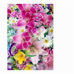 Colorful Flowers Patterns Small Garden Flag (two Sides)
