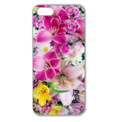 Colorful Flowers Patterns Apple Seamless Iphone 5 Case (clear)