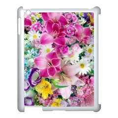 Colorful Flowers Patterns Apple Ipad 3/4 Case (white)