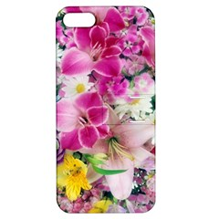 Colorful Flowers Patterns Apple Iphone 5 Hardshell Case With Stand