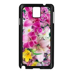Colorful Flowers Patterns Samsung Galaxy Note 3 N9005 Case (black)