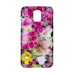 Colorful Flowers Patterns Samsung Galaxy S5 Hardshell Case