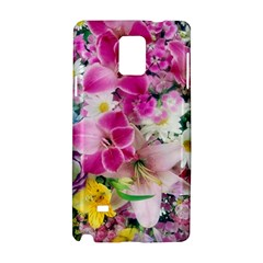 Colorful Flowers Patterns Samsung Galaxy Note 4 Hardshell Case