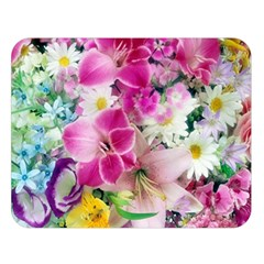 Colorful Flowers Patterns Double Sided Flano Blanket (large)