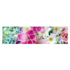 Colorful Flowers Patterns Satin Scarf (oblong)