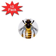 Bee 1  Mini Buttons (10 Pack)