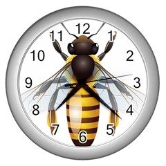 Bee Wall Clocks (silver)
