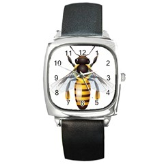 Bee Square Metal Watch