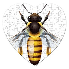 Bee Jigsaw Puzzle (heart)