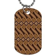 Batik The Traditional Fabric Dog Tag (two Sides)