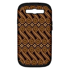 Batik The Traditional Fabric Samsung Galaxy S Iii Hardshell Case (pc+silicone)