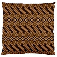Batik The Traditional Fabric Large Flano Cushion Case (one Side)