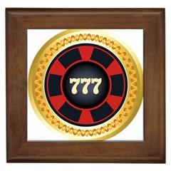 Casino Chip Clip Art Framed Tiles