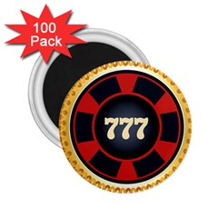 Casino Chip Clip Art 2 25  Magnets (100 Pack)