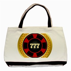 Casino Chip Clip Art Basic Tote Bag (two Sides)