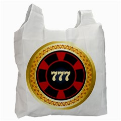 Casino Chip Clip Art Recycle Bag (two Side)
