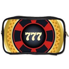 Casino Chip Clip Art Toiletries Bags