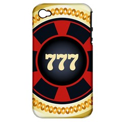 Casino Chip Clip Art Apple Iphone 4/4s Hardshell Case (pc+silicone)