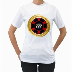 Casino Chip Clip Art Women s T Shirt (white)