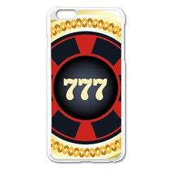 Casino Chip Clip Art Apple Iphone 6 Plus/6s Plus Enamel White Case