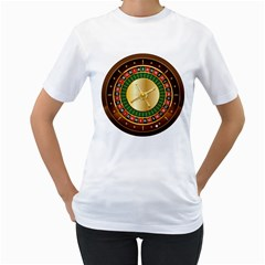 Casino Roulette Clipart Women s T Shirt (white) (two Sided)