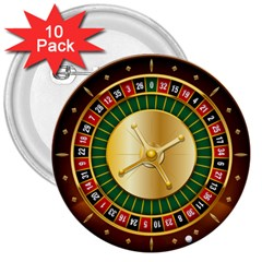 Casino Roulette Clipart 3  Buttons (10 Pack)