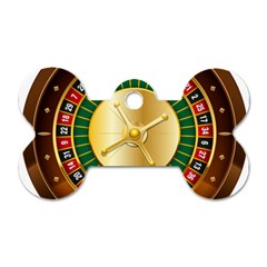 Casino Roulette Clipart Dog Tag Bone (two Sides)
