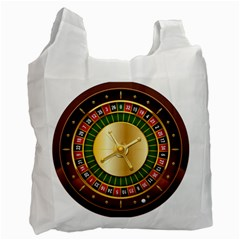 Casino Roulette Clipart Recycle Bag (one Side)