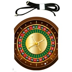 Casino Roulette Clipart Shoulder Sling Bags