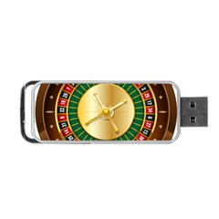 Casino Roulette Clipart Portable Usb Flash (two Sides)