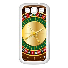 Casino Roulette Clipart Samsung Galaxy S3 Back Case (white)
