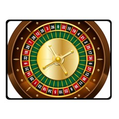 Casino Roulette Clipart Double Sided Fleece Blanket (small)