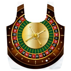 Casino Roulette Clipart Full Print Recycle Bags (l)