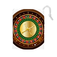 Casino Roulette Clipart Drawstring Pouches (large)