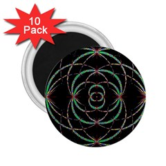 Abstract Spider Web 2 25  Magnets (10 Pack)