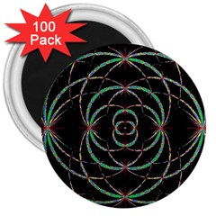 Abstract Spider Web 3  Magnets (100 Pack)