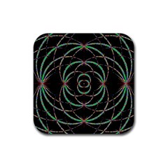 Abstract Spider Web Rubber Square Coaster (4 Pack)