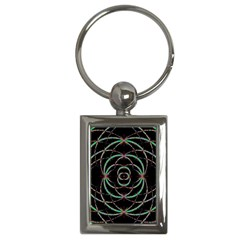 Abstract Spider Web Key Chains (rectangle)