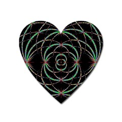 Abstract Spider Web Heart Magnet